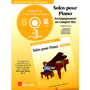 Piano Solos Book 3 - CD - French Edition