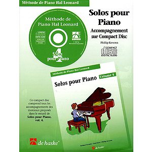 Piano Solos Book 4 - CD - French Edition