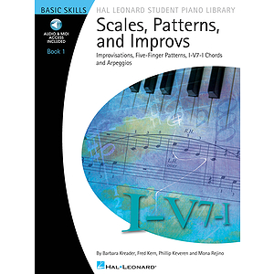 Scales, Patterns and Improvs - Book 1 - Book/CD Pack