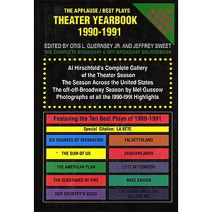 Theater Yearbook 1990-1991
