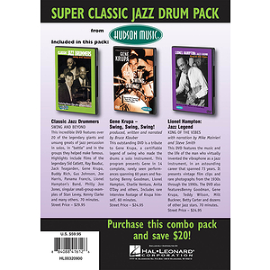 Super Classic Jazz Drum Pack 3-DVD Set