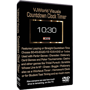 VJ World Visuals Countdown Clock Timer (DVD)