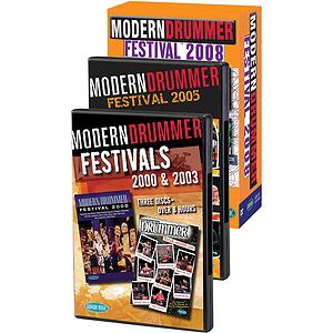 Modern Drummer Super Pack Modern Drummer Fest 2000/2003/2005/2008 Pack 11 DVDs