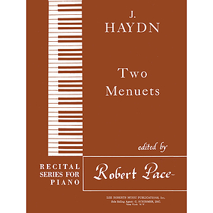 Two Menuets Recital Series For Piano Brown