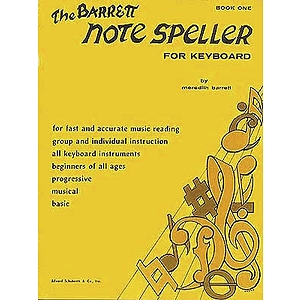 Piano Books Barrett Note Speller Book 1