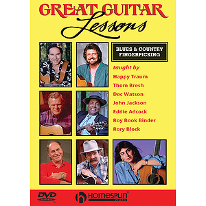 Great Guitar Lessons - Blues and Country Fingerpicking (DVD)