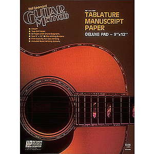 Guitar Tablature Manuscript Paper - Deluxe