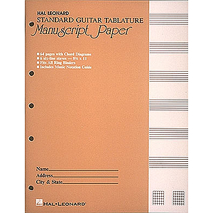 Guitar Tablature Manuscript Paper - Standard