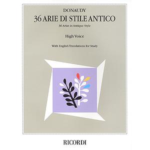 Stefano Donaudy: 36 Arie di Stile Antico