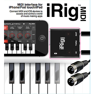 IK Multimedia iRig MIDI for iPhone, iPod, iPad