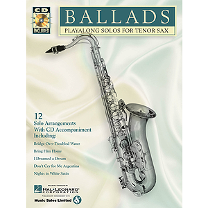 BALLADS TENOR SAX CD/PKG PLAYALONG SOLOS FOR TENOR SAX BK/CD