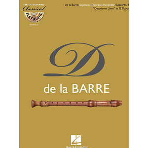 Soprano (Descant) Recorder Suite No. 9 Deuxieme Livre in G Major