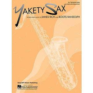 Yakety Sax B Flat Tenor Saxophone With Piano Accompaniment