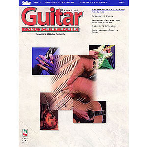 Guitar(TM) Magazine Manuscript Paper - #1 Standard &amp; Tab Staves - 9 inch. x 12 inch.