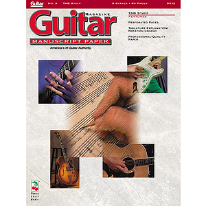 Guitar(TM) Magazine Manuscript Paper - #3 Tab Staff - 9 inch. x 12 inch.
