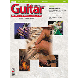 Guitar(TM) Magazine Manuscript Paper - #6 Combo - 9 inch. x 12 inch.