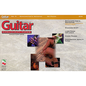 Guitar(TM) Magazine Manuscript Paper - #5 Songwriter's Notepad - 9 inch. x 6 inch.