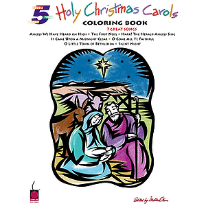 Holy Christmas Carols Coloring Book