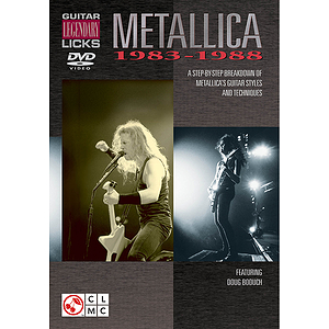 Metallica - Guitar Legendary Licks 1983-1988 (DVD)
