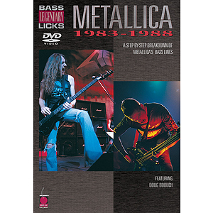 Metallica - Bass Legendary Licks 1983-1988 DVD