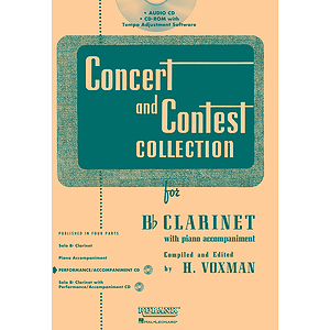 Concert and Contest Collection for Bb Clarinet - Accompaniment CD