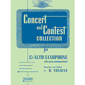 Concert and Contest Collection for Eb Alto Sax - Accompaniment CD