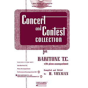Concert and Contest Collection for Baritone T.C. - Book/CD Pack