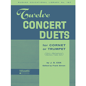 Twelve Concert Duets for Cornet or Trumpet