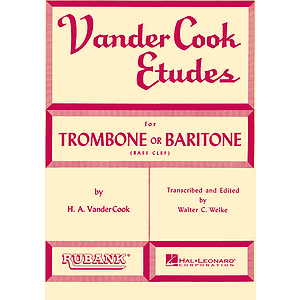 Vandercook Etudes for Trombone or Baritone