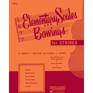Elementary Scales And Bowings - String Bass