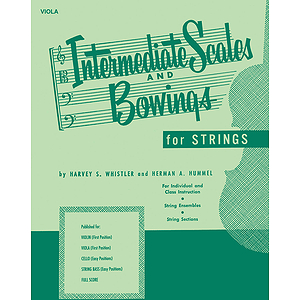 Intermediate Scales And Bowings - String Bass