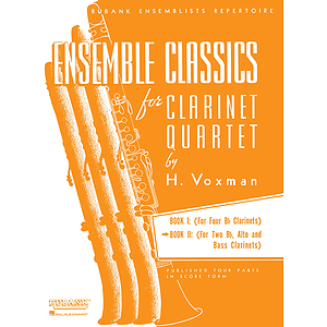 Ensemble Classics for Clarinet Quartet - Book 2