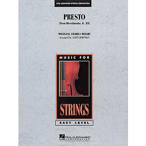Presto (from Divertimento, K.113)