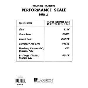 Watkins-Farnum Performance Scale - Form A Score Sheets