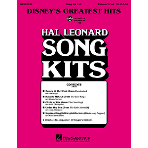Disney's Greatest Hits (Song Kit #40)