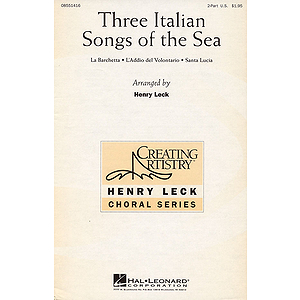 Three Italian Songs of the Sea