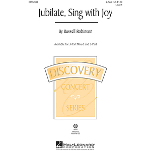Jubilate, Sing with Joy