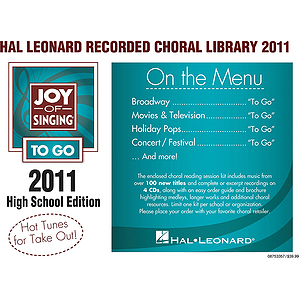 Hal Leonard Recorded Library 2011 (jos To Go) High School Edition