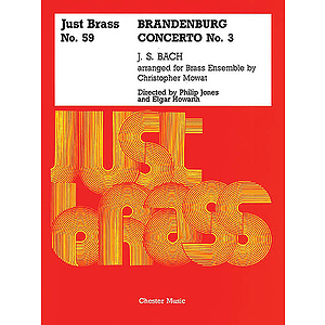 JS Bach: Brandenburg Concerto No.3 - Score And Parts (Just Brass No.59)