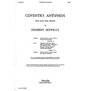 Herbert Howells: Coventry Antiphon
