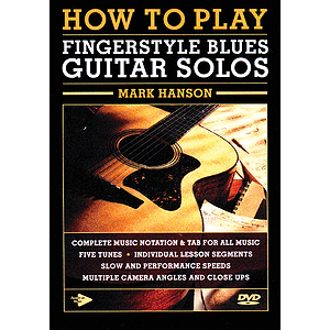 How to Play Fingerstyle Blues Guitar Solos (DVD)