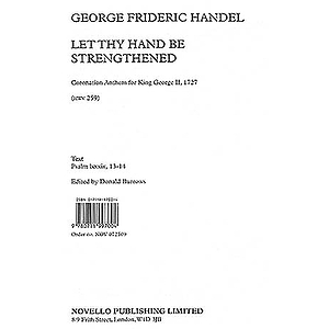 G.F. Handel: Let Thy Hand Be Strengthened