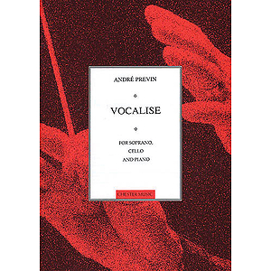 Vocalise for Soprano, Cello and Piano