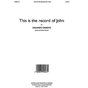 This Is the Record of John (Alto Verse)