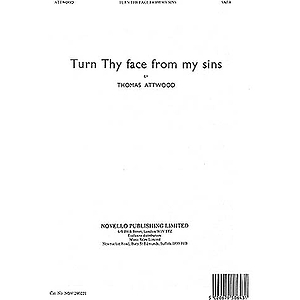 Thomas Attwood: Turn Thy Face From My Sins