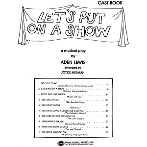 Let&#039;s Put On a Show Cast Book