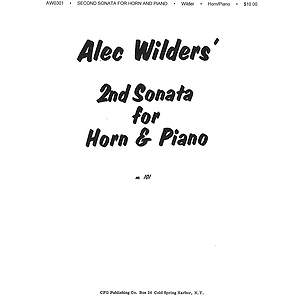 Alec Wilder: Sonata No 2 For Horn And Piano