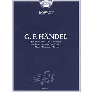 Handel: Sonata in C Major, Op. 1, No. 7 for Treble (Alto) Recorder and Basso Continuo