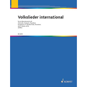 Volkslieder international für ein Blasinstrument in B