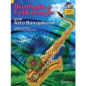 Swinging Folksongs Play-along For Alto Saxophone Bk/cd With Piano Parts To Print